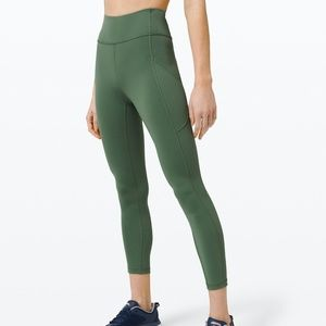 "Lululemon Invigorate 25"" HR Tight Algae Green"